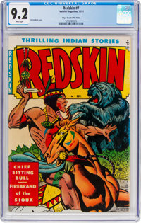 Redskin #7 Mile High Pedigree (Youthful Magazines, 1951) CGC NM- 9.2 White pages