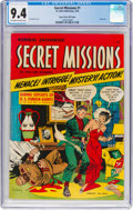 Golden Age (1938-1955):Crime, Secret Missions #1 Mile High Pedigree (St. John, 1950) CGC NM 9.4 Off-white to white pages....