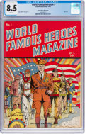 Golden Age (1938-1955):Non-Fiction, World Famous Heroes Magazine #1 Mile High Pedigree (Centaur, 1941) CGC VF+ 8.5 White pages....