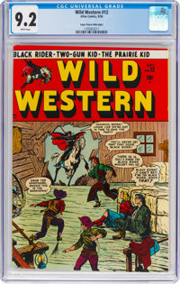 Wild Western #12 Mile High Pedigree (Atlas, 1950) CGC NM- 9.2 White pages