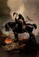 Frank Frazetta Death Dealer Signed Limited Edition Gold Print #86/345 (Paradox Productions, c. 1980s)