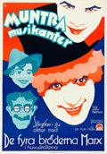 """Movie Posters:Comedy, Animal Crackers (Paramount, Mid-1930s). Swedish One Sheet (27.5"""" X39.5"""") Gosta Aberg Artwork.. ..."""
