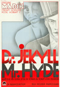 "Movie Posters:Horror, Dr. Jekyll and Mr. Hyde (Paramount, 1932). Swedish One Sheet (27.75"" X 39.5"") Gerö Artwork.. ..."