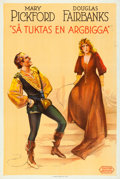 """Movie Posters:Comedy, Taming of the Shrew (United Artists, 1930). Swedish One Sheet(26.5"""" X 39.5"""").. ..."""