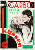 "Movie Posters:Drama, The Kiss (MGM, 1930). Swedish One Sheet (27.5"" X 39.5"") Eric Rohman Artwork.. ..."