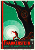 "Movie Posters:Horror, Frankenstein (Universal, 1932). Swedish One Sheet (27.5"" X 39.5"").. ..."