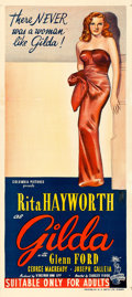 "Movie Posters:Film Noir, Gilda (Columbia, 1946). Australian Daybill (13.25"" X 30"").. ..."