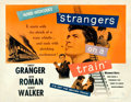 "Movie Posters:Hitchcock, Strangers on a Train (Warner Brothers, 1951). Half Sheet (22"" X28"").. ..."