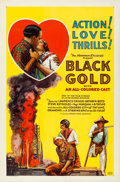 "Movie Posters:Black Films, Black Gold (Norman, 1928). One Sheet (27"" X 41"").. ..."