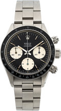 Timepieces:Wristwatch, Rolex, Rare Ref. 6263, Stainless Steel Oyster Cosmograph, Sigma Panda Dial, Circa 1973. ...