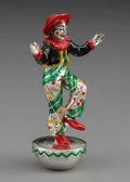 Silver Holloware, American:Other , A Tiffany & Co. Silver and Enamel Balancing Circus Clown