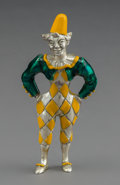 Silver Holloware, American:Other , A Tiffany & Co. Silver and Enamel Circus Clown, designed byGene Moore, New York, circa 1990. Marks: TIFFANY & CO.,(cop...