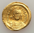 Ancients:Byzantine, Ancients: Maurice Tiberius (AD 582-602). AV solidus (21mm, 4.48 gm, 7h). About XF....