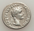 Ancients:Roman Imperial, Ancients: Tiberius (AD 14-37). AR denarius (19mm, 3.71 gm, 11h). VF....