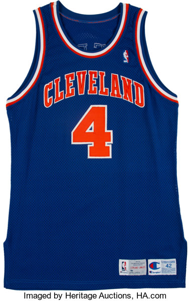 competitive price cd9d1 e40b6 1992-93 Steve Kerr Game Worn Cleveland Cavaliers Jersey ...