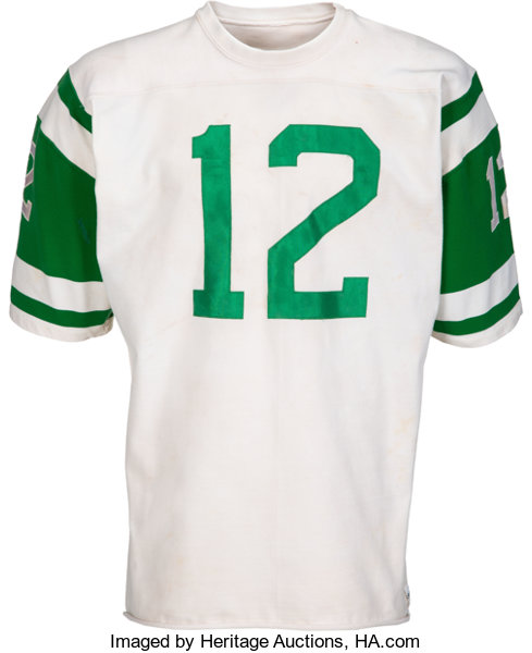 half off 554a4 7f216 Early 1970's Joe Namath Game Worn New York Jets Jersey ...