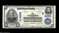 Camden, AR - $5 1902 Plain Back Fr. 600 The Camden NB Ch. # (S)4066 This is a very scarce bank in large size, and a pro...