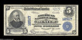 National Bank Notes:Colorado, Denver, CO - $5 1902 Plain Back Fr. 609 The American NB Ch. # 12517An evenly circulated example from a bank which is h...