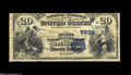 National Bank Notes:Colorado, Sterling, CO - $20 1882 Date Back Fr. 555 The First NB Ch. # 5624 Aseldom-encountered institution which was the only i...