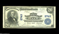 National Bank Notes:Maine, Bath, ME - $20 1902 Plain Back Fr. 650 The First NB Ch. # 2743 Anicely margined Very Fine with darkly stamped offi...
