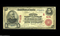 National Bank Notes:Maryland, Baltimore, MD - $5 1902 Red Seal Fr. 587 The Second NB Ch. #(E)414This strong Fine $5 Red Seal displays well-bala...