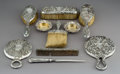 Silver & Vertu:Hollowware, Nine Gorham Repoussé Silver Vanity Items with a Pairpoint Mfg. Co. Repoussé Silver-Plated Letter Opener, Providence, Rhode I... (Total: 9 Items)