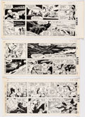 Original Comic Art:Comic Strip Art, Dan Barry Flash Gordon Sunday Comic Strips Original ArtGroup of 3 (King Features Syndicate, 1989).... (Total: 3 OriginalArt)