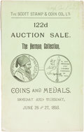Books, Scott Stamp & Coin Co. Catalogue of the Very ValuableCollection of Canadian Coins, Medals and Tokens, Formed byGeral...