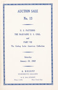 Books, Kosoff, A. [Numismatic Gallery]. Collected Auction Catalogues Nos. 13-28. ...