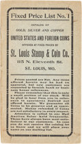 Books, St. Louis Stamp & Coin Co. Complete Set of Fixed Price Lists....