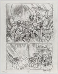 "Original Comic Art:Miscellaneous, Mark Bodé Teenage Mutant Ninja Turtles: ""Times"" PipelineStory Pages Preliminary Artwork Original Art Group of 7 (...(Total: 7 Original Art)"