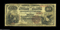 National Bank Notes:Nebraska, Beatrice, NE - $10 1882 Brown Back Fr. 487 The First NB Ch. # 2357 Fine, with the beginnings of a few spots of marg...