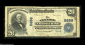 National Bank Notes:Pennsylvania, Clymer, PA - $20 1902 Plain Back Fr. 653 The Clymer NB Ch. # 9898 Avery scarce Indiana County bank with just five larg...