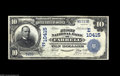National Bank Notes:Pennsylvania, Farrell, PA - $10 1902 Date Back Fr. 622 The First NB Ch. #(E)10415 An extremely rare note from a bank which was in bu...
