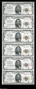 National Bank Notes:Pennsylvania, McKeesport, PA - $5 1929 Ty. 1 The NB of McKeesport Ch. # 4625Uncut Sheet The nicest of the three uncut sheets we offe...
