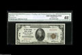 National Bank Notes:Pennsylvania, Mount Joy, PA - $20 1929 Ty. 1 The Union National Mount Joy BankCh. # 1516 CGA Gem Uncirculated 65. A sought-after...