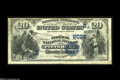 National Bank Notes:Pennsylvania, Pittsburgh, PA - $20 1882 Date Back Fr. 555 The Federal NB Ch. #(E)6023 Brown Backs and Second Charter Date Backs only...
