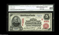 National Bank Notes:Pennsylvania, Pittsburgh, PA - $5 1902 Red Seal Fr. 587 The Mellon NB Ch. #(E)6301 A beautifully bright Red Seal which makes a perfe...
