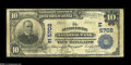 National Bank Notes:Pennsylvania, Punxsutawney, PA - $10 1902 Plain Back Fr. 633 The Punxsutawney NB Ch. #(E) 5702 Another example from this scarce and e...
