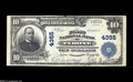 National Bank Notes:Pennsylvania, Tyrone, PA - $10 1902 Plain Back Fr. 627 The First NB Ch. # 4355Extremely Fine, but with a separation beginning a...