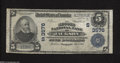 National Bank Notes:Tennessee, Jackson, TN - $5 1902 Plain Back Fr. 600 The Second NB Ch. #(S)3576This Fine addition to the census brings the to...