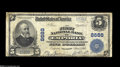 National Bank Notes:Virginia, Emporia, VA - $5 1902 Plain Back Fr. 600 The First NB Ch. # 8688This note is one of 8 Large in the census. Officers ar...