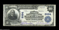 National Bank Notes:Virginia, Rocky Mount, VA - $10 1902 Plain Back Fr. 626 The Peoples NB Ch. #8984 A nice Fine-Very Fine large example with br...