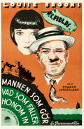 "Movie Posters:Comedy, It's the Old Army Game (Paramount, 1930). Swedish One Sheet (23"" X35"") Gosta Aberg Artwork.. ..."