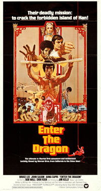 "Enter the Dragon (Warner Brothers, 1973). Three Sheet (41"" X 77"") Bob Peak Artwork"