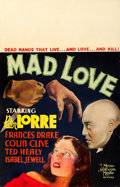 """Movie Posters:Horror, Mad Love (MGM, 1935). Window Card (14"""" X 22"""")...."""