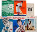 Baseball Collectibles:Publications, 1947-68 Washington Senators Publications Lot of 24....