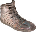 Basketball Collectibles:Others, 1995 Michael Jordan Silver Air Jordan I Sneaker Created for his 32nd Birthday....