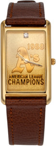 Baseball Collectibles:Others, 1988 Oakland A's A.L. Champions Watch....