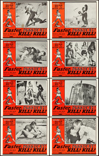 "Faster, Pussycat! Kill! Kill! (Eve Productions, 1965). Lobby Card Set of 8 (11"" X 14"")"